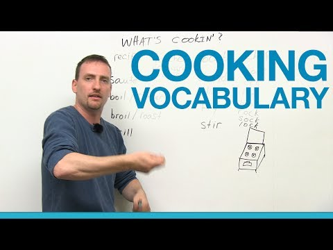 Cooking Vocabulary In English - Chop, Grill, Saute, Boil, Slice...