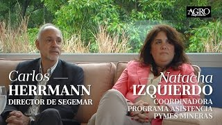 Carlos Herrmann, Dir. de Segemar - Natacha Izquierdo, Coord. Pymes Mineras