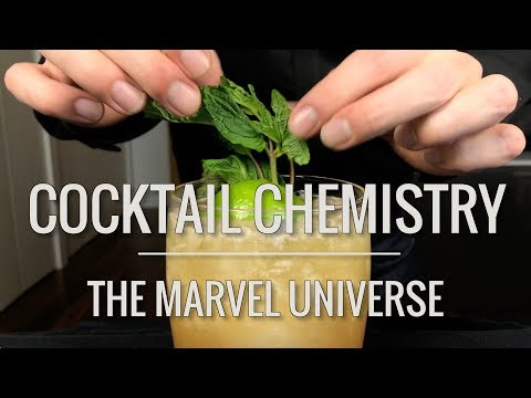 Cocktails from the Marvel Universe