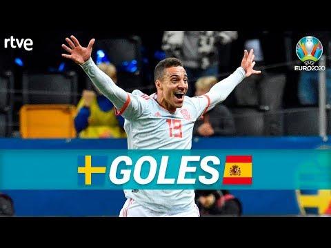 GOLES Suecia 1-1 España  Clasificatorio Eurocopa 2020