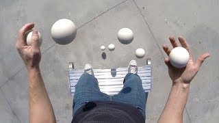 Pretty Damn Cool - Balls Juggling POV Looks Really Magical