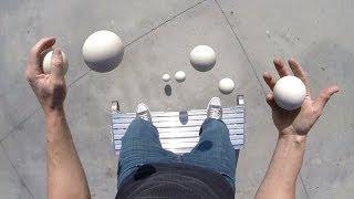 Pretty Damn Cool - Balls Juggling POV Looks Really Magical