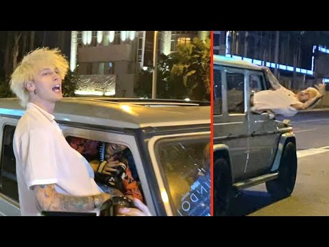 Machine Gun Kelly Smashes Up Mod Sun's Windshield While Rocking Out A Little Too Hard