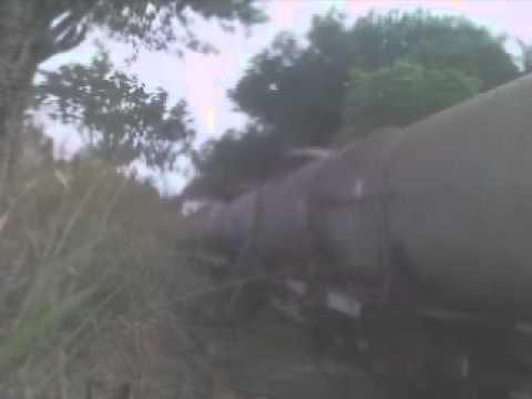 Trem Tanqueiro FCA (Sucatas) em Cordisburgo - U20C + GL8