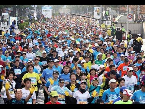2015 第5回神戸マラソン「感謝と友情」胸に2万人駆ける