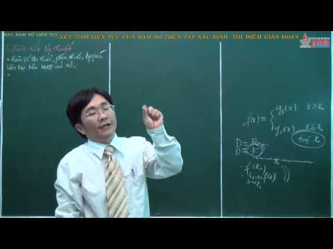 Giải tích 11 - Hàm số liên tục - Xét tính liên tục của hàm số trên tập xác định