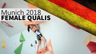 Female Qualifiers | 2018 Munich Bouldering World Cup by OnBouldering