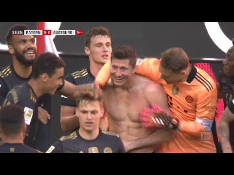 Bundesliga  Lewandowski Breaks Gerd Muller39s Record - Bayern vs Augsburg