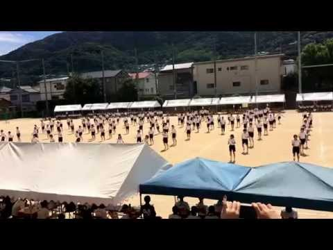 北九州市立花尾中学校体育大会2014ダンス