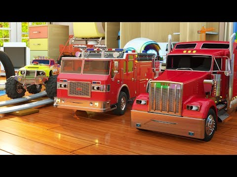 Learn Colors while Playing with Paint (Max the Glow Train, Jake the Fire Truck and Friends) - TOYS