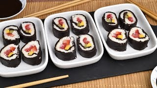 DESSERT SUSHI WITH FRESH FRUIT