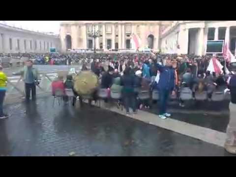 La squadra elbana all'udienza papale