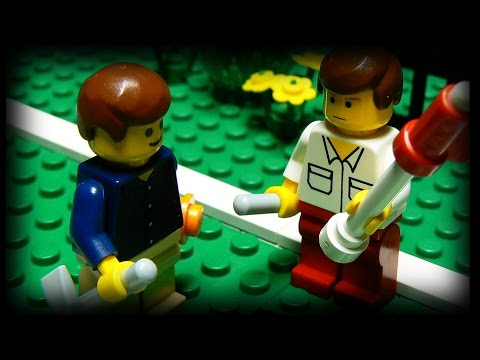 lego - Two men have a heated game of mini golf. Let's just hope they can keep their cool...