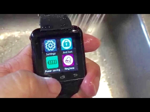 Review and durability test of the UZOU Luxury U8 Bluetooth Smart Watch