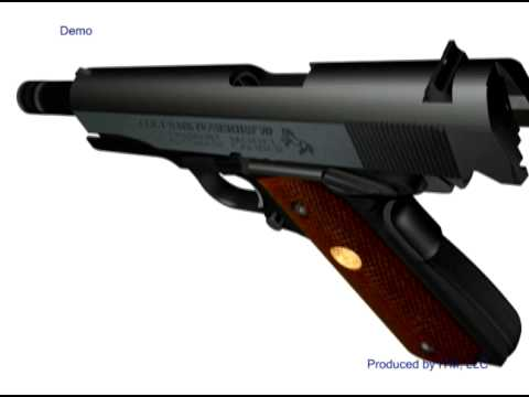 Colt 1911 Disassembly 3D