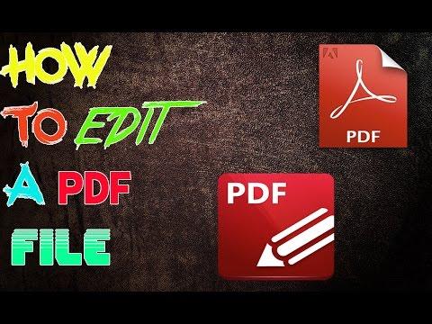 HOW TO EDIT A PDF FILE |ACROBAT DC