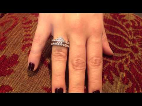 1.25 Round cz Platinum bridal set
