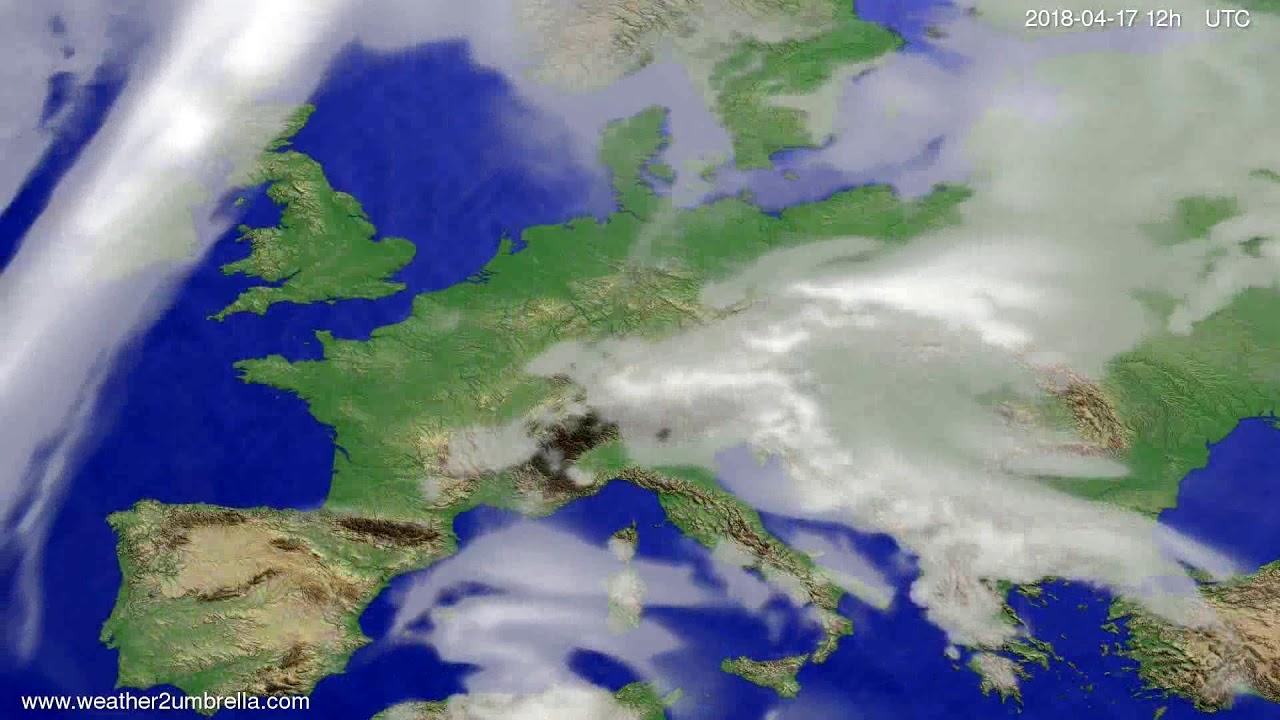 Cloud forecast Europe 2018-04-13