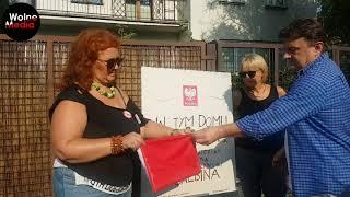 Odsłonięcie tablicy Jarosława Kaczyńskiego.