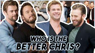 Video Chris Evans, Hemsworth & Pratt Reveal WHO IS THE BETTER CHRIS   Funny Moments Avengers: Endgame MP3, 3GP, MP4, WEBM, AVI, FLV Juni 2019