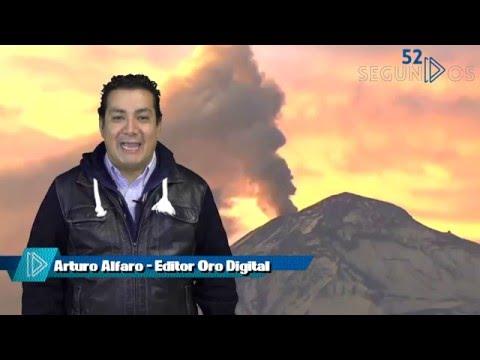 #52Segundos - Actividad del Popocatépetl - Enero 28