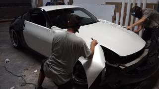 350z Pearl white color change wrap