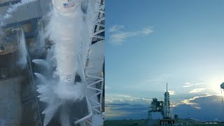 Due to a guidance computer issue just before liftoff, SpaceX aborted the Falcon 9 rocket launch with the Intelsat 35e sattelite from Launch Complex 39A (LC-39A) at NASA's Kennedy Space Center in Florida, on 2 July 2017, at 23:36 UTC (17:36 EDT).Credit: SpaceX