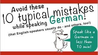 """Most German learners make the same mistakes over and over again. Avoid these 10 typical mistakes in German! JOIN me on Patreon and get EXTRAS! https://www.patreon.com/FreeGermanLessons Diese 10 Fehler sind so typisch! VERMEIDE sie um jeden Preis!These 10 mistakes are sooo typical! AVOID them at all costs!German Mistake Nr. 10:So ≠ Also. """"So"""" is a false friend.German Mistake Nr. 9: In + Jahr - In 2006: Doesn't work in German! Im Jahr 2006 oder 2006 worksGerman Mistake Nr. 8: Aussprache von r - VERY typical mistake. Don't pronounce it IF: vowel + r, if R is the last letter in word or syllableGerman Mistake Nr. 7: treffen (meet with) is a false friend as well. It's either reflexive or uses an accusative object. German Mistake Nr. 6: mögen + Verb (Ich mag kochen). Use """"gern""""!German Mistake Nr. 5: rufen ≠ anrufen. Ich rufe meine Eltern AN.German Mistake Nr. 4: bleiben ≠ bei Freunden sein. Never say: Lena bleibt mit ihrer Freundin! German Mistake Nr. 3: sth. is fun  ≠ etwas ist Spaß. Katzen machen Spaß! Katzen sind lustig. Das kannst du sagen :)German Mistake Nr. 2: Wie geht es dir? Ich bin gut. Just never say it. Never. Same with: """"Schönes Wochenende!"""" - """"Danke, du auch""""German Mistake Nr. 1: Der Junge geht für Fischen an den See. """"for"""" is a false friend as well. use """"zum"""".Correct this text. Do you find all the mistakes?Ich war am Wochenende in Paris für Shoppen. Ich habe etwas Falsches gegessen, so ich war schlecht. Ich bin mit meiner Schwester gegblieben. Es war viel Spaß!Wir haben auch meine Eltern gerufen und per Whatsapp Bilder geschickt. Paris ist toll! Ich mag spazieren gehen. Wir haben auch mit Freunden getroffen und haben lecker gegessen. In 2018 werde ich wieder nach Paris gehen!Join my Facebook group to practice every day: https://www.facebook.com/freeGermanCoursesWithAnnaJoin me on google+  https://goo.gl/55syNLLet's tweet on Twitter: https://twitter.com/FreeGermanAnnaLearn with my eBooks! Buy eBooks for less than 3€ - and support me and my Channel :-)http://w"""