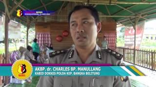 BIDOKKES POLDA BANGKA BELITUNG GELAR BHAKTI KESEHATAN SAMBUT HUT BHAYANGKARA KE 70