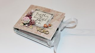 This is a short photo story of an Accordion mini album card. The card also has a drawer for a personal gift. You can find the tutorial for the card in Kaisercraft's blog or in my blog.