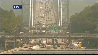 Commuters faced major delays on the George Washington Bridge around lunchtime Tuesday.