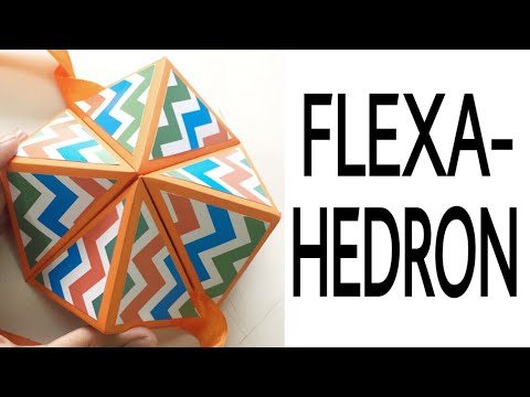 Birthday wishes for best friend - Origami FLEXAHEDRON letter  DIY CRAFT- Post 48
