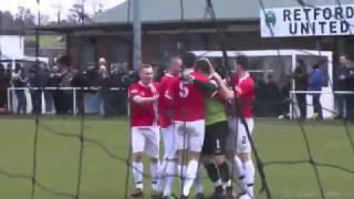 Retford United Kingdom  City new picture : Funny- Amazing goalkeeper goal .... FC United vs Retford United