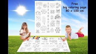 Free big coloring page for children | Большая раскраска для детей
