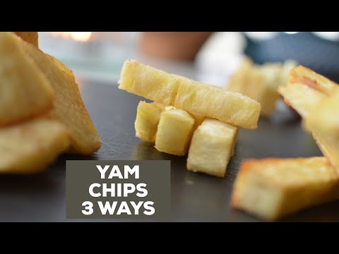 HOW TO FRY YAM CHIPS PERFECTLY // CRUNCHY & FLUFFY
