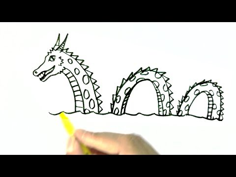Video How to draw The Loch Ness Monster, or Nessie - in easy steps for children. beginners download in MP3, 3GP, MP4, WEBM, AVI, FLV January 2017