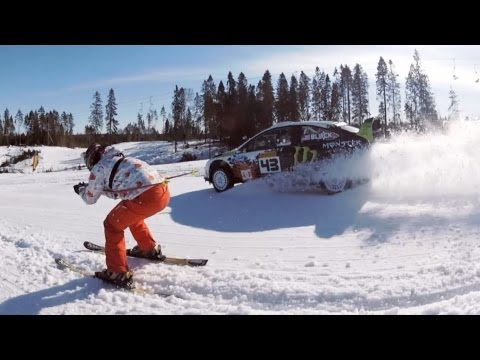 gopro - Shot 100% on the HD HERO2 camera from http://GoPro.com. Ken Block is on a mission of destruction as he battles the elements, races rogue skiers and tries t...