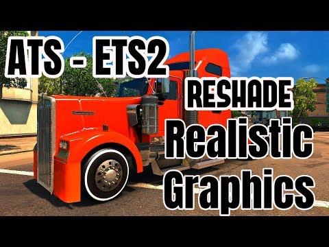 ETS2 Realistic Graphics Reshade v3.4 Red Presets v1.4