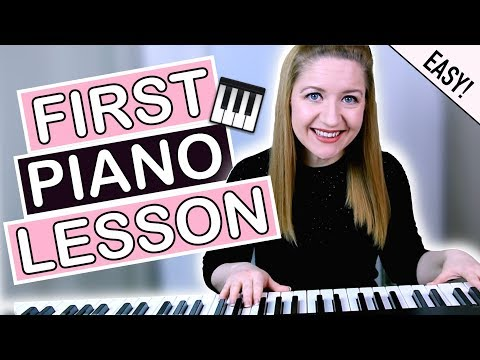 How To Play Piano - EASY First Piano Lesson!