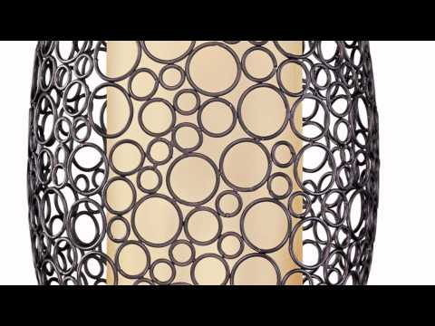 Video for Meridian Umber Bronze Two-Light Pendant with Dusty White Glass
