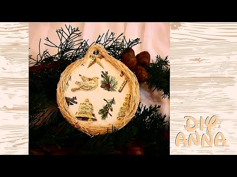 Decoupage Christmas Ornament DIY Ideas Decorations Craft Tutorial