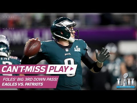 Video: Foles' Perfect Pass to Clement for Clutch 3rd Down Conversion! | Can't-Miss Play | Super Bowl LII