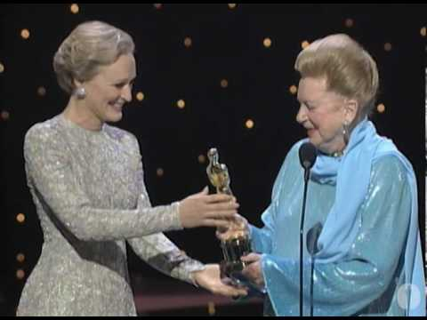 Deborah Kerr receiving an Honorary Oscar®