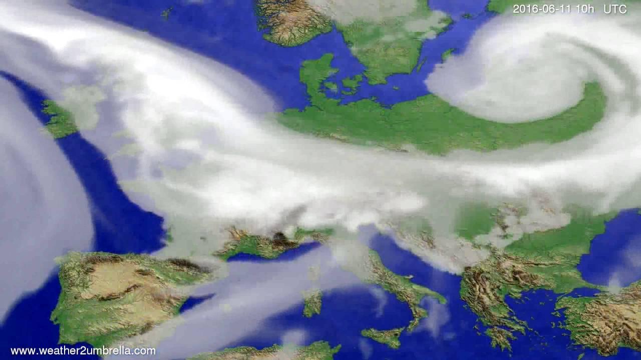 Cloud forecast Europe 2016-06-09