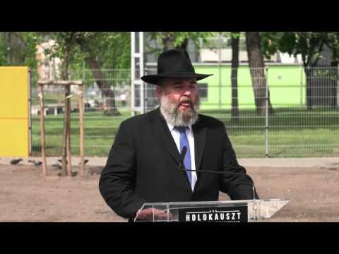 Szabó György, a Mazsök elnökének beszéde a munkaszolgálatos emlékmű avatásán