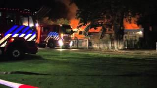 Voormalig kinderdagverblijf verwoest door brand