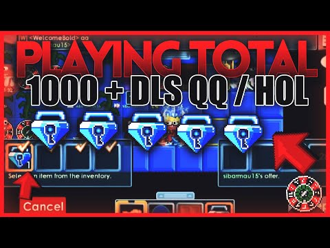 PLAYING TOTAL 1000+ DLS QQ/HOL CASINO! *Not Clickbait* (Always Winning!) | Growtopia Casino