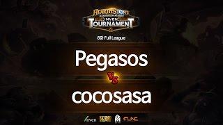 하스스톤 인벤 토너먼트 8강 1회 3라운드 Pegasos VS cocosasa