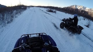 10. 2014 Yamaha Grizzly 550 vs 700 Knik Alaska