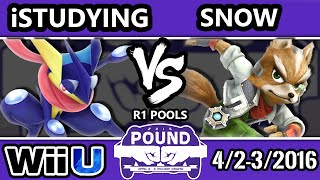 Pound 2016 – INC | Snow (Fox) Vs. iStudying (Greninja) SSB4 Pools – Smash Wii U – Smash 4